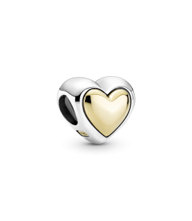 Charm Corazón Cúpula Dorada...